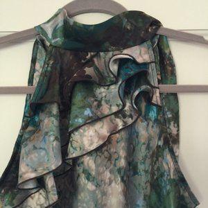Byer of California Luminous color ruffle blouse